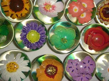Stuiterbal Bloemen (doorzichtig)