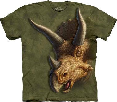 T-shirt Triceratops Head (groen/bruin)