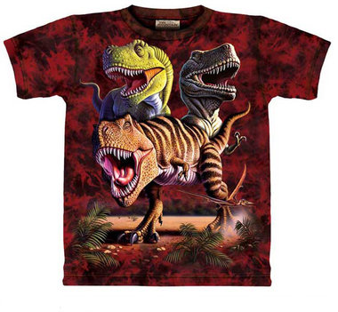 T-shirt Rex Collage (rood)