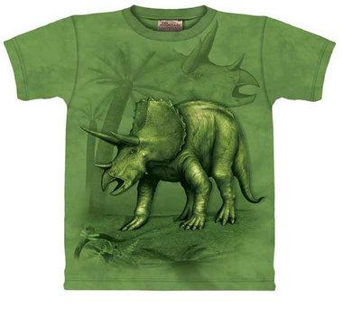T-shirt Triceratops groen