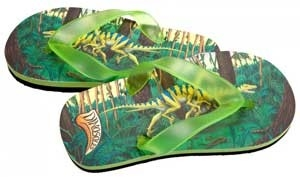 Dinosoles Velociraptor slippers (groen)