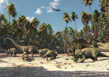 Dinosaurussen Behangposter (152 x 104cm)