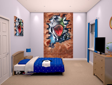 T-rex behangposter Walltastic (152x244 cm)