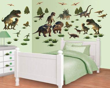 Muurstickers dinosaurussen Walltastic