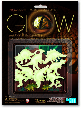 Glow in the dark 3D (wand/muur) Dinosaurus