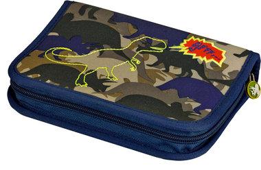 Etui dinosaurus camouflage  (gevuld)