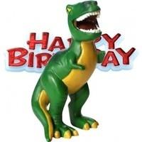 Taart decoratie T-rex (groen)