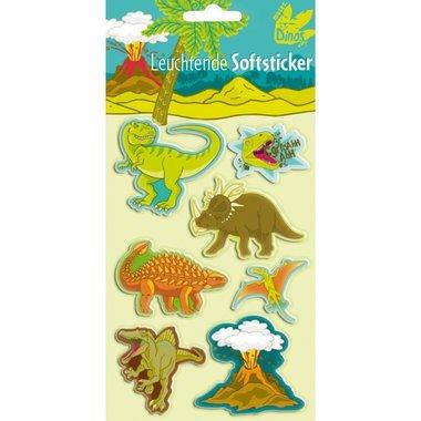 Soft dino stickers (7 stuks)