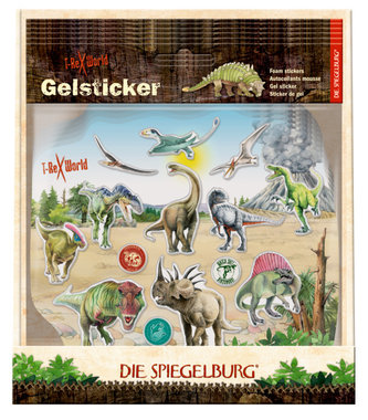 Gelsticker T-rex World (14 stickers)