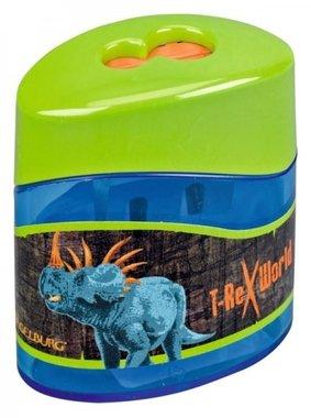 Puntenslijper (dubbel) Triceratops & T-rex