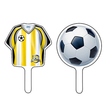Voetbal cake prikkers (12)