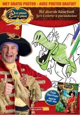 Piet Piraat kleurboek met dinoposter