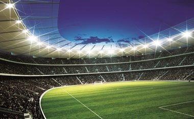 Voetbal Stadion XXL posterbehang (254 x 368 cm) - leverbaar binnen 6-8 dagen