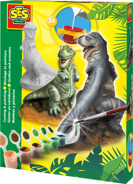 Gieten en schilderen T-rex (SES creatieve)