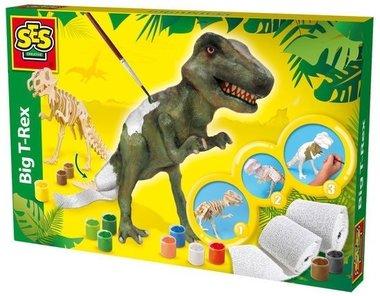 Big T-rex (Houten dino met gipsverband) (SES creatieve)