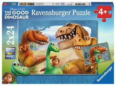 2 x 24 stukjes Good Dinosaur puzzel