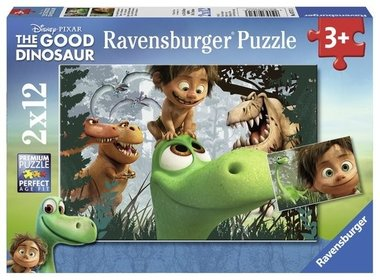 2 x 12 stukjes The Good Dinosaur puzzel