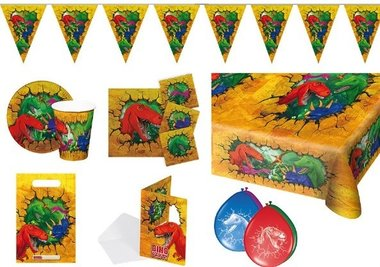 .Dinosaur Party Feestpakket (6 pers.)