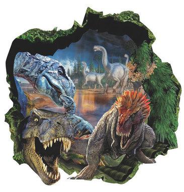 Muursticker dinoworld (44 x 44 cm)