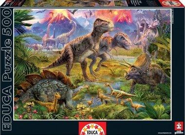 500 stukjes puzzel dinosaurussen (Educa)