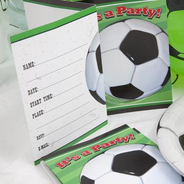 Uitnodigingen 8x voetbalfeest (party)