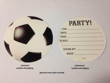 Uitnodigingen 8x voetbalfeest (bal)