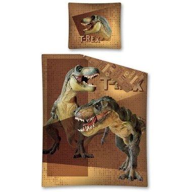 T-rex dekbedovertrek Bruin