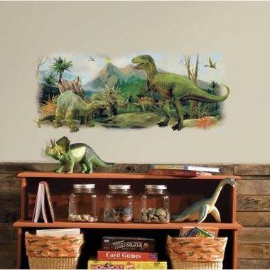 Muursticker Dinosaurs Giant Scene (L100cm)