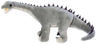 Diplodocus knuffel beweegbaar (lengte 65 cm)