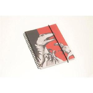 Notitieboekje/schrift A6 (rood/zwart)