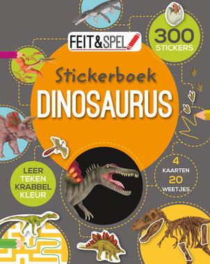 Dinosaurus stickerboek (300 stickers)