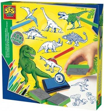 SES Dinosaurus stempelset