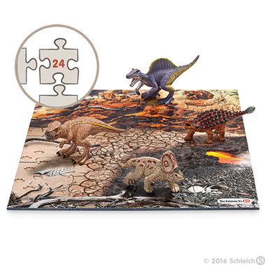 Kadoset Schleich dino's lavalandschap