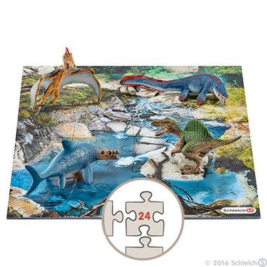 Kadoset Schleich dino's waterlandschap