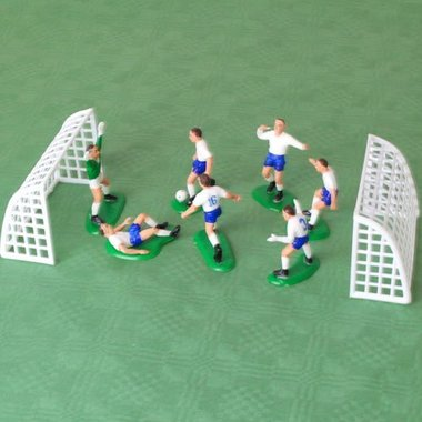 Witte voetballers (decoratie taart/cake)