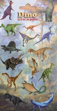 Dinosaurus stickervel (15 stuks)