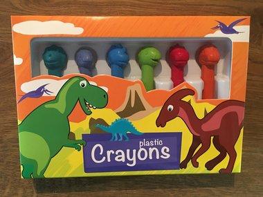 Dinosaurus waskrijtjes in doos (6x)