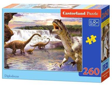 260 stukjes Diplodocus & T-rex puzzel