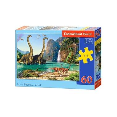 60 stukjes in the dinosaur world puzzel