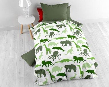 Dino's en dieren dekbedovertrek