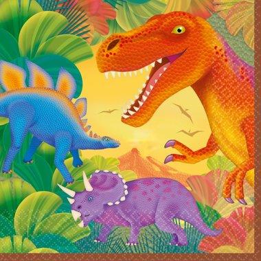 Servetten Dinosaurus (16x) (Diplohosaurus Feest)