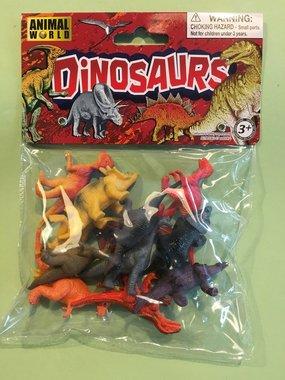 (12x) Dinosaurussen in een zakje (klein)