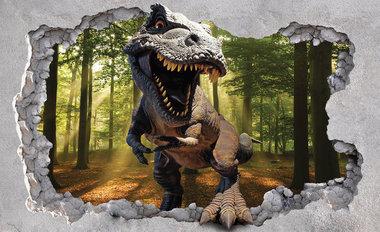 T-rex in het bos muurposter (368x254cm)