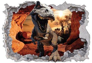 Dinosaurus in het bos muurposter (368x254cm)