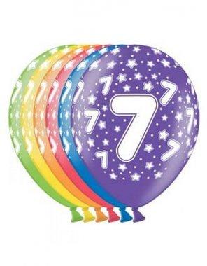 Ballonnen (6x) keus uit 7, 8, 9 jaar