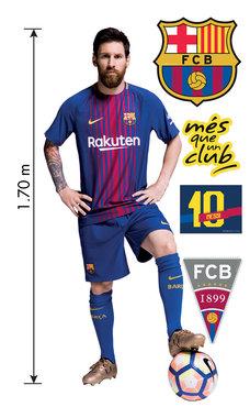 XXL Muursticker Messi (1.70 m hoog)