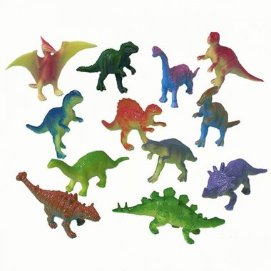 (12x) Dinosaurussen (klein) (taart/muffin decoratie)