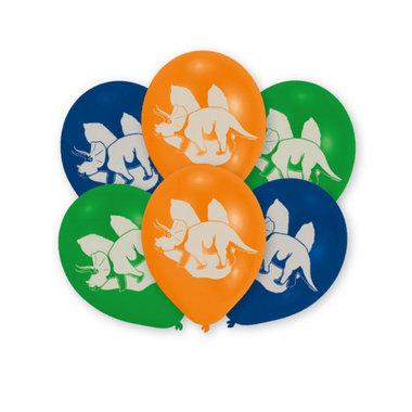 Ballonnen Dinosaurus (6x) (diverse kleuren)