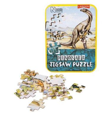 (88 stukjes) Dinosaurus puzzel in blik