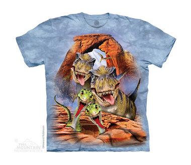T-shirt Dino Selfie (licht blauw)